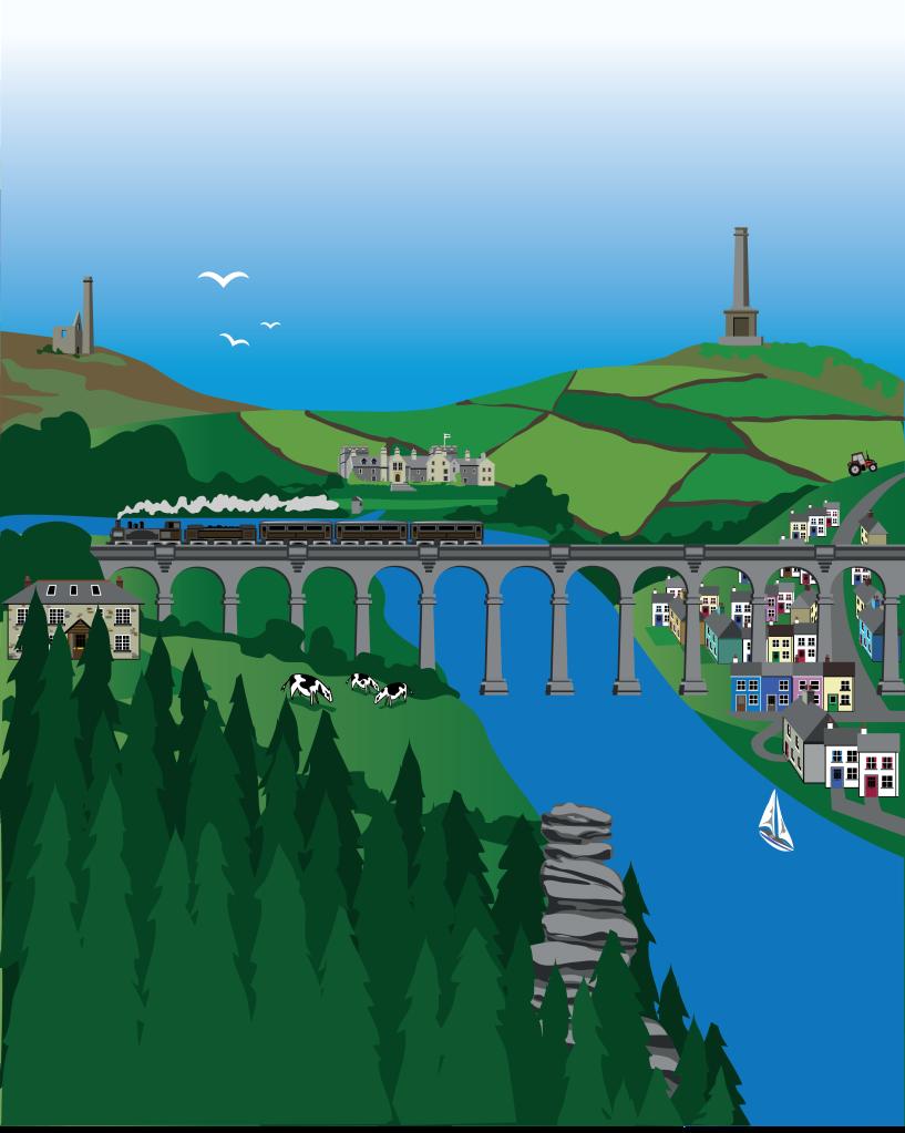 Tamar Valley Illustration